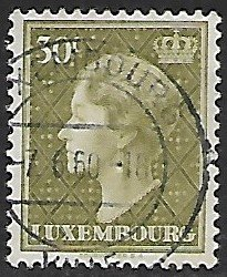 Luxembourg # 338 - Grand Duchesse Charlotte - 30ct - used...(KlGr)