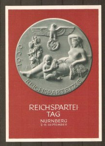 Germany propaganda card for 1939 Party Day Rally