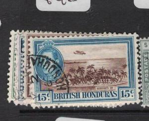 British Honduras SG 153-6 VFU (4dtf)