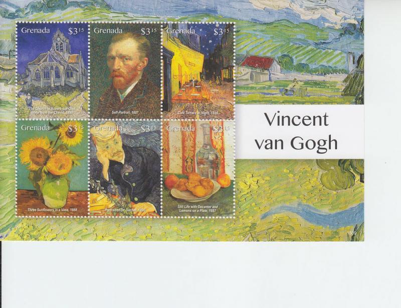 2015 Grenada Vincent Van Gogh Paintings MS6 (Scott 4042) MNH