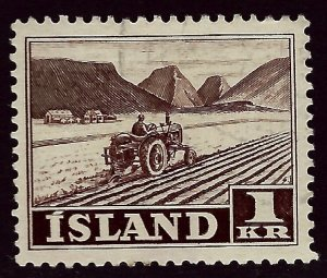 Iceland  SC#264 Mint F-VF hr SCV$25.00...An Amazing Place!