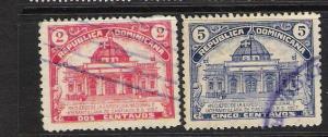 DOMINICAN REP. DOMINICANA 239-40 VFU 943D