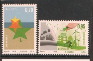 2016   LUXEMBOURG - SG:2084/85 - EUROPA - THINK GREEN -  UNMOUNTED MINT