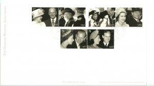 Great Britain 2007 FDC QEII Diamond Wedding Anniversary  Sc# 2214-9 se tenant...