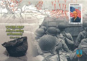 [96907] Montserrat 1998 World War II Overlord Eisenhower First Day Card