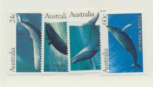 Australia Scott #821 To 824, Whales Issue From 1982 - Free U.S. Shipping, Fre...
