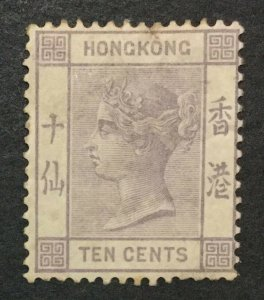 MOMEN: HONG KONG SG #36 1882 CROWN CA MINT OG H LOT #199368-6707