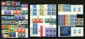United Nations (U.N.) #1 - #180, 1951-1967 Singles, Pairs, Blocks Mostly MNH