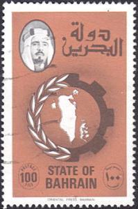 Bahrain # 232 used ~ 100f Map of Bahrain