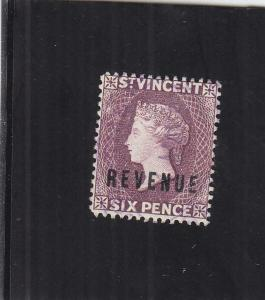 St. Vincent Revenue Tax Stamp, 6p, Sc #18 (24904)