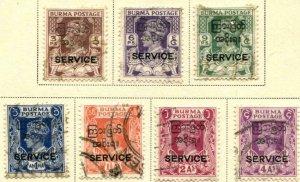 Burma SC# O43-8, 50 KGV Officials Used