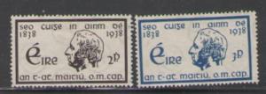 Ireland Sc 101-2 1938 Temperance stamps mint