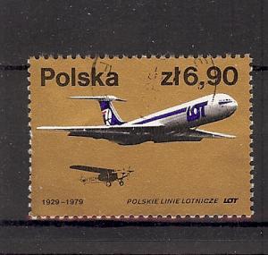 Poland, 2313, LOT Polish Airline - 50th CTO Single, NH