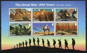 JERSEY 2016 THE GREAT WAR-100 YEARS WORLD WAR I MINATURE SHEET MINT NEVER HINGED