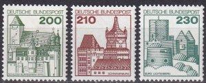 Germany #1240A, 1241-2 MNH CV $7.20 (Z5281)