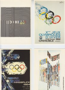 Olympics - 12 Official Post cards - 1964/1988 - Mint