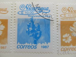 Nicaragua 1987 Flower 10cor fine used stamp A11P11F83