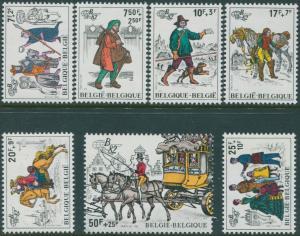 Belgium 1982 SG2737-2742 Belgica Postal History Exhibition set MNH