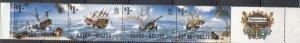 Cayes of Belize, Sc # 26 (2), MNH, 1985, Shipwrecks