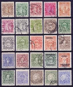 INDIA (COCHIN) — SCOTT 23//94  — 1918-49 REGULAR ISSUES — USED — SCV $85.55