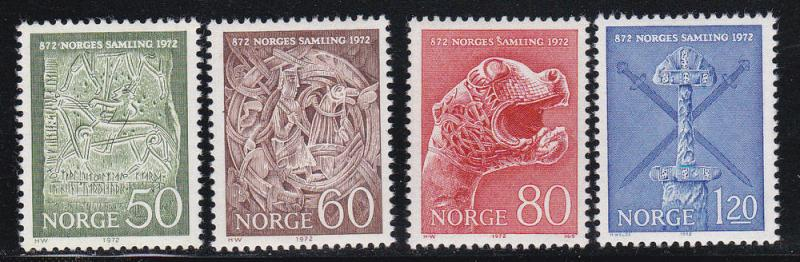 Norway # 586-589, Complete Set, Mint NH, 1/2 Cat.