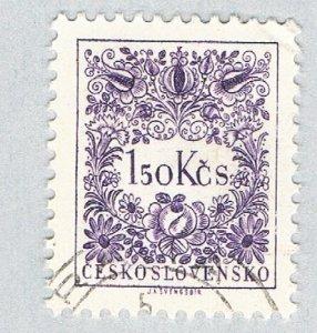 Czechoslovakia Numeral violet 150k (AP131609)