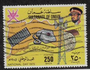 OMAN Used Scott # 167 National Day 1975 (1 Stamp) -3 (8)