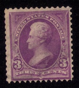 US Sc 268 Mint No Gum Jackson 3c F-VF CV $ 37.50