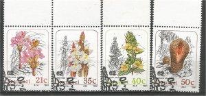 TRANSKEI, 1990, CTO Complete set, Plants, Scott 243-246