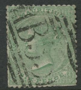 Mauritius - Scott 33 - QV Definitives-1863 - Used - Single 2p Stamp