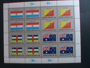 UNITED NATION-1984 SC#437-440  U. N. FLAGS SERIES MNH FULL SHEET- VERY FINE