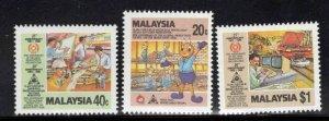 Malaysia Scott 343-345 MNH** stamp set