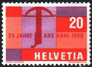 Switzerland. 1958. 655 from the series. Crossbow, a trademark of Switzerland....