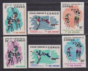 Congo Democratic Rep. (1965) #528-33 MNH. Wholesale 50 sets at 10c/set