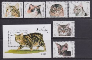 Afghanistan (1997) Cats MNH; unofficial issue
