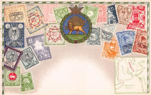 Iran, Stamp Postcard, #98, Published by Ottmar Zieher, Circa 1905-10, Unused