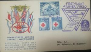 RO) 1943 HONDURAS, ORCHIDS 21c - UPU, RED CROSS OBLIGATORY ON ALL DOMESTIC