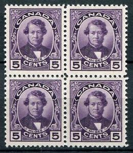 Canada #148  VF Block  of 4  Mint  3 stamps NH  one stamp LH
