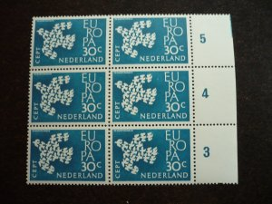 Europa 1961 - Netherlands - Block of 6 with inscription selvedge