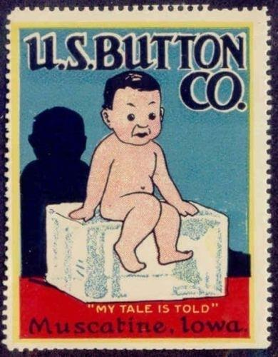 US Button Co. Advertising Poster Stamp