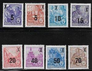 Germany DDR - Scott #216-23  - F- VF - Mint Never Hinged (NH)
