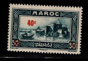 French Morocco Scott 148 MH* surcharged stamp