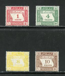 MALAYA  TRENGGANU POSTAGE DUES   SCOTT#J1/4, GIBBONS#D1/4  MINT  NEVER HINGED