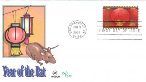 #4221 Year of the Rat Wilson FDC