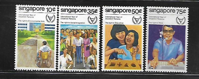 SINGAPORE, 378-381, MNH, INTL. YEAR OF DISABLED PERSONS
