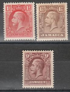 JAMAICA 1929 KGV SET