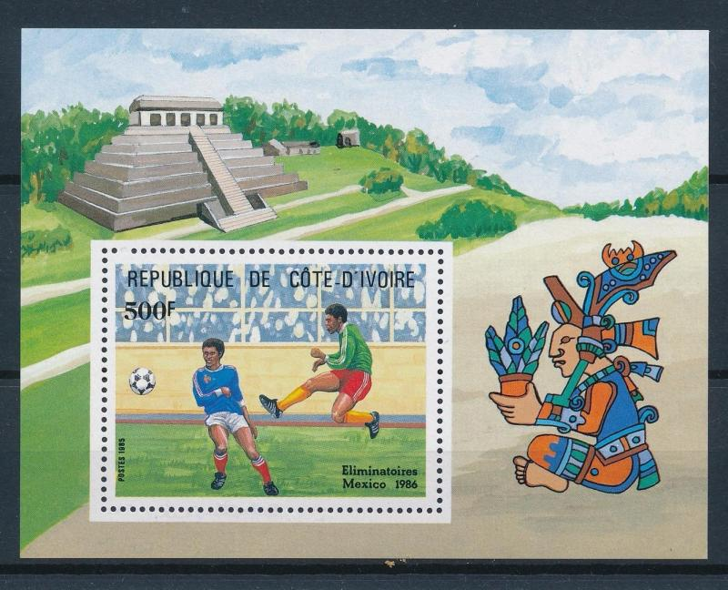 [59657] Ivory Coast 1985 World Cup Soccer Football Mexico MNH Sheet