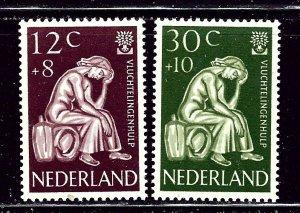 Netherlands B341-42 MNH 1960 World Refugee Year    (ap2869)