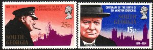 1974 South Georgia Winston Churchill complete set MNH Sc# 39 / 40 CV $3.00
