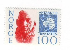 Norway Sc 578 1971 Amundsen Antarctic Treaty stamp mint NH